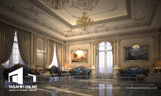 Tasamim online villa classic interior design