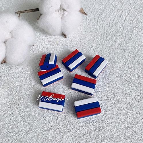 Российский флаг бусина
