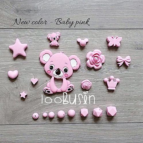 Новый цвет baby pink Коала и др. фурнитура
