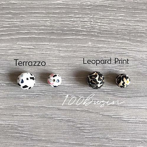 Terrazzo и Leopard print новый цвет бусин