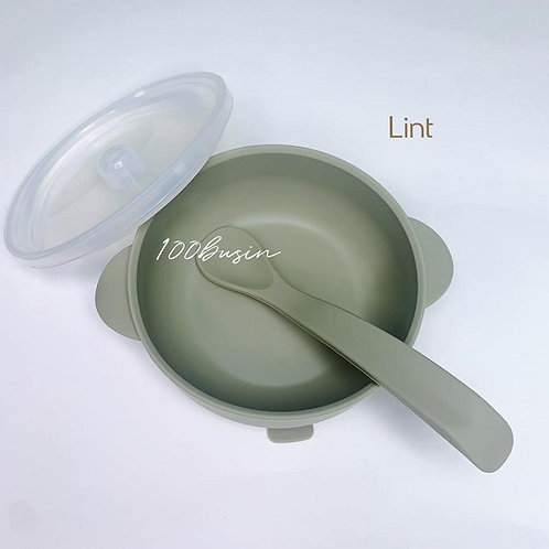 Тарелка силиконовая с крышкой