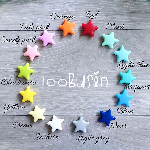 Звезда гладкая из пищевого силикона