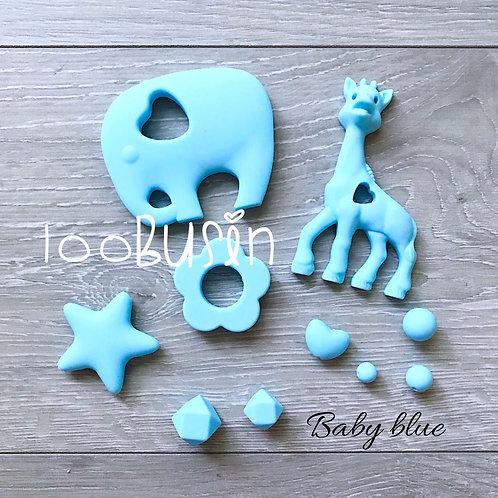 Фурнитура нового цвета Baby blue из пищевого силикона