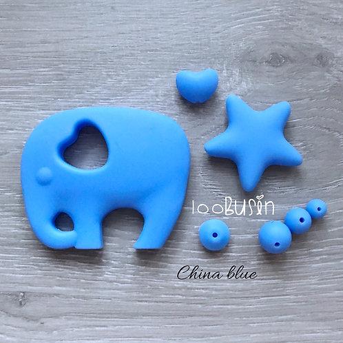 Фурнитура нового цвета China blue из пищевого силикона