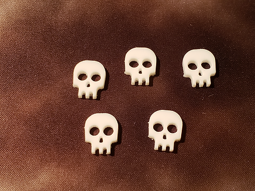 Skull Tokens - White