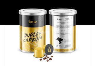 ÂME - CAFÉ DE ALMA PURA, DUPLA CAFEÍNA - CRIAÇÃO DE ARTE PARA EMBALAGEM - NAMING - BRANDING