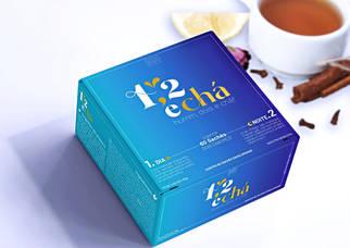 1,2 e chá - CRIAÇÃO DE NAMING - BRANDING - ID. VISUAL - EMBALAGENS - PAPELARIA - RÓTULOS E ECOMMERCE