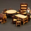 Thumbnail: Bookcase with Bench