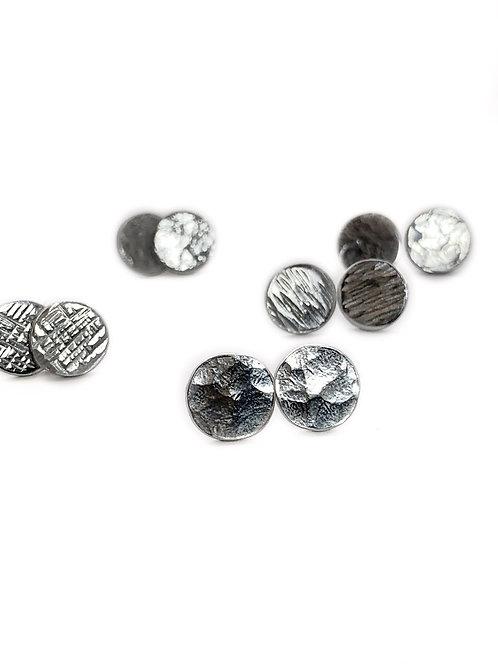 Tiny Silver Dot Earrings