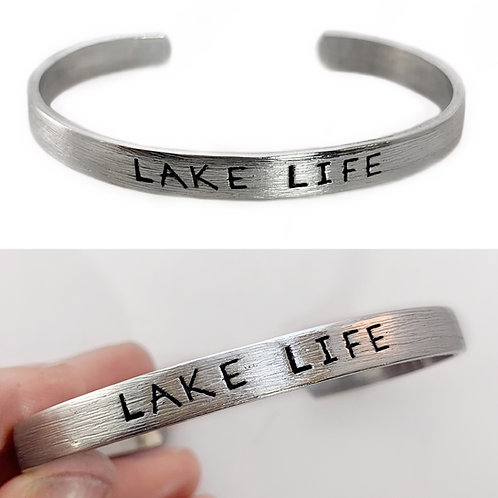 Lake Life Mens Cuff Bracelet