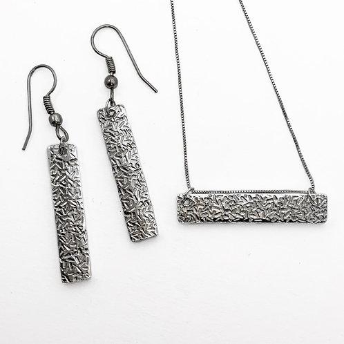 Silver Bar Earrings, Sprinkles