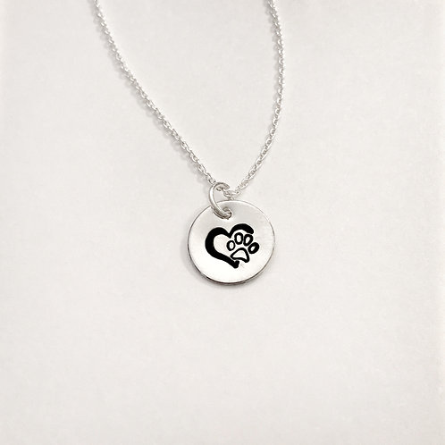 Paw Prints On My Heart Necklace