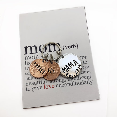 Penny Keychain for Mom