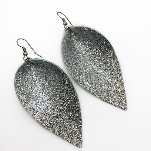 Disco Leather Large Earrings