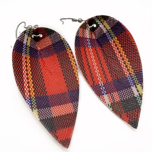 Tartan Plaid Earrings