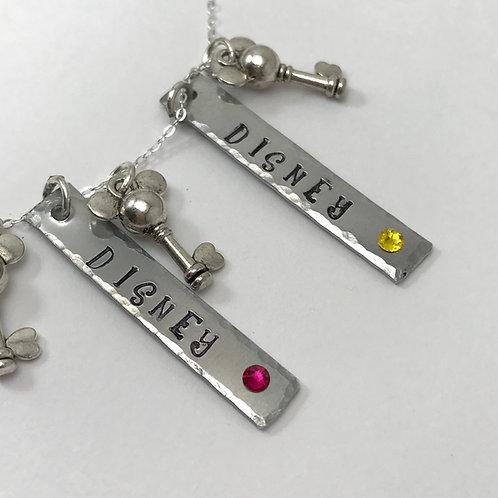 Disney Custom Vacation Birthstone Necklace
