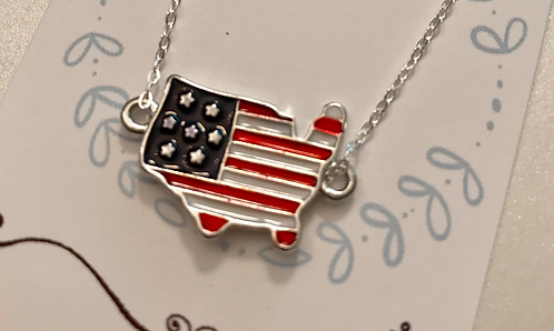 4th of July Flag Necklace