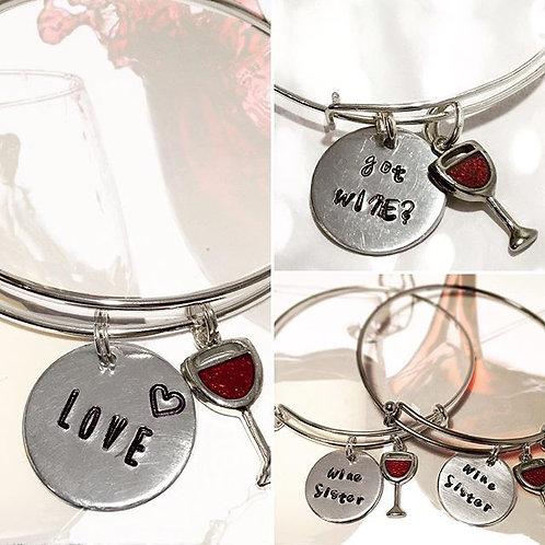 Wine Lovers Bangle Bracelet