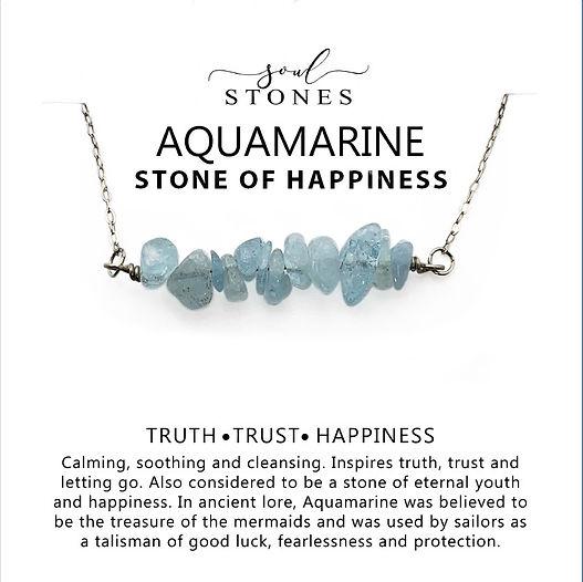 aquamarine necklace soul stones