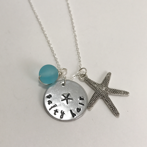 Salty Hair Don't Care Starfish Necklace