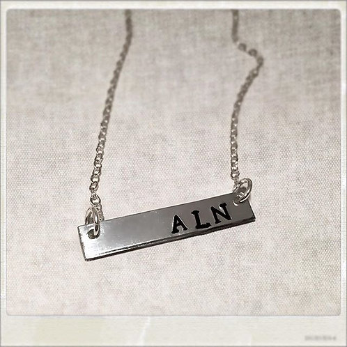 Monogram Necklace Personalized Initial Necklace