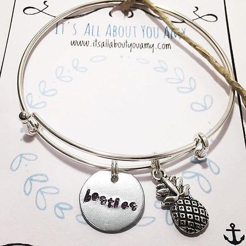 Besties Bracelet Pineapple Charm