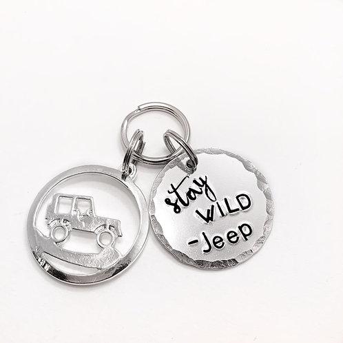 Stay Wild Jeep Keychain
