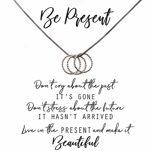 Be Present Necklace circles