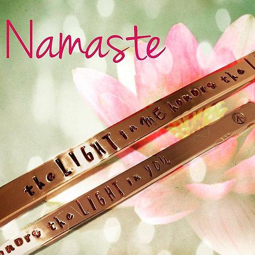 Namaste Copper Cuff Bracelet Custom Style