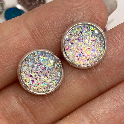 Snow Druzy Earrings