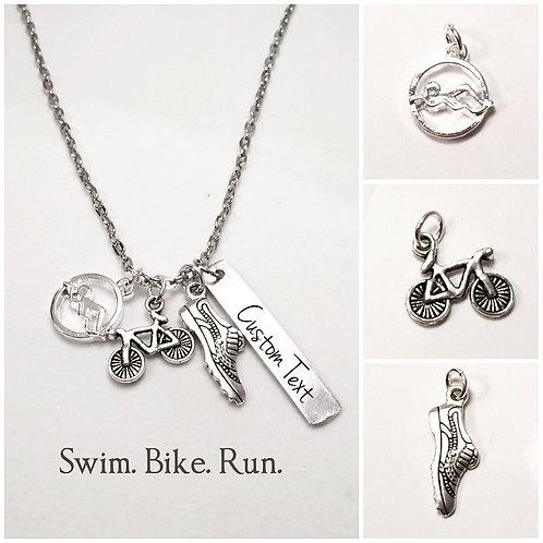 Personalized Triathlon Necklace