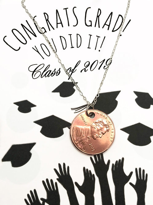Graduation Penny Necklace
