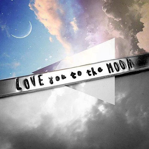 LOVE you to the MOON Cuff Bracelet