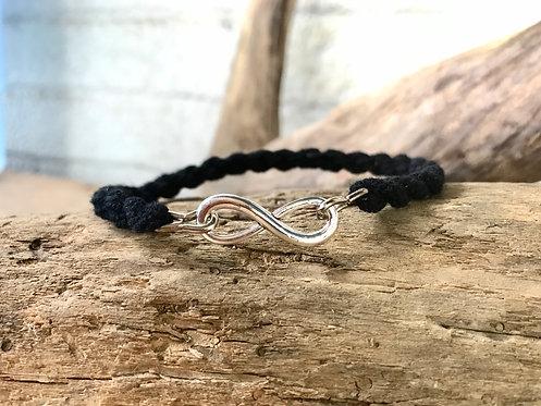 Infinity Charm Military Bracelet