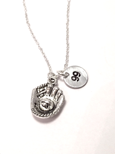 Baseball Glove Mom Necklace