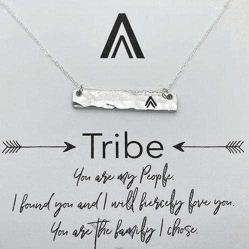 My Tribe Bar Necklace Double Arrow