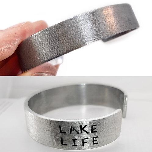 Lake Life Mens Cuff Bracelet- END STAMPING