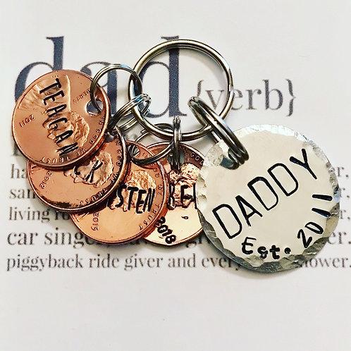 Fathers Day Keychain Penny Keychain