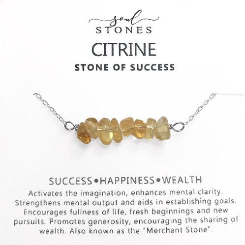 Citrine Bar Necklace