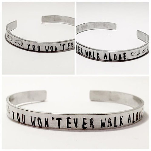 You Won't Ever Walk Alone Cuff Bracelet