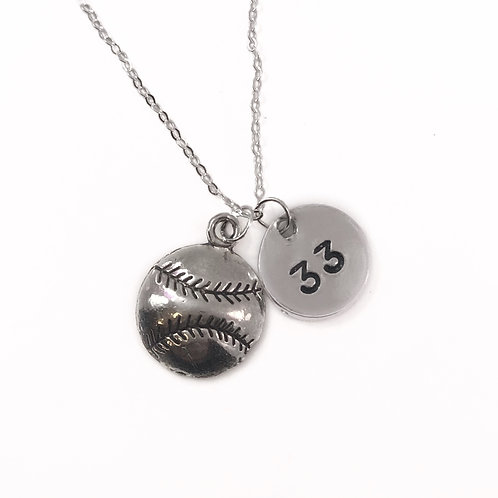 Personalized Baseball Mom Necklace