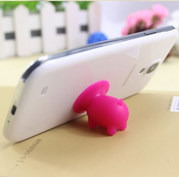 Pig suction cup phone stand