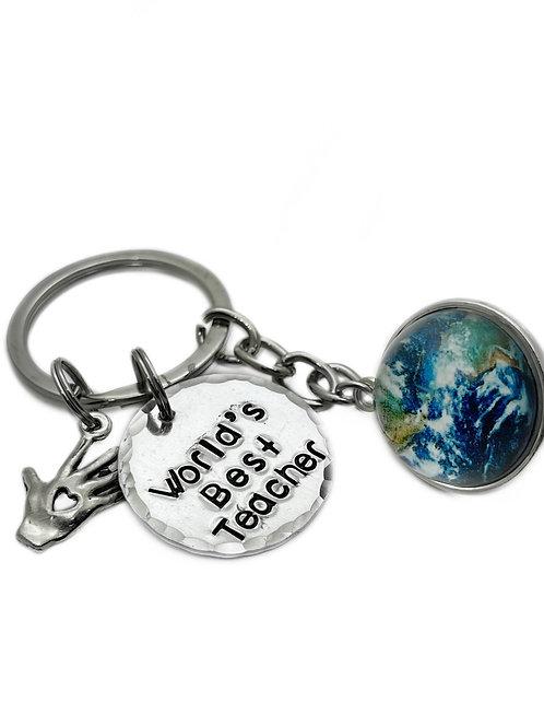 World's Best Teacher Keychain