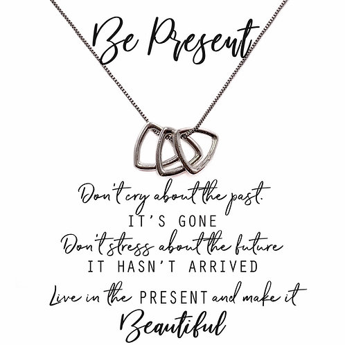 Be Present Necklace triangles
