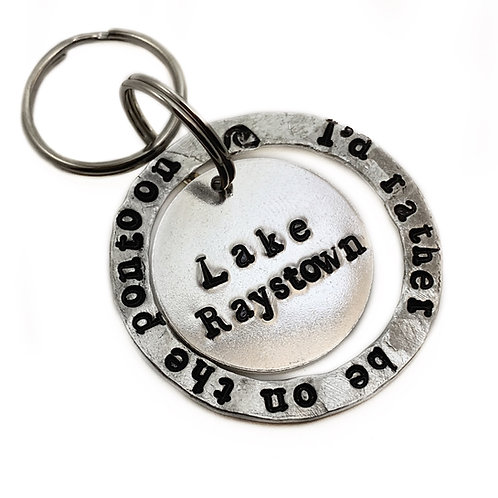 I'd rather be Custom Keychain
