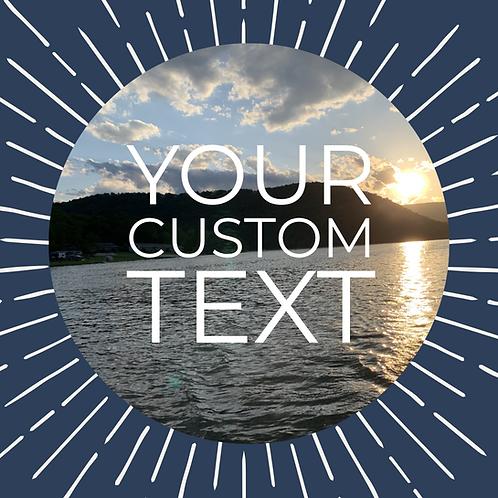 Your Custom Text Cuff Bracelet