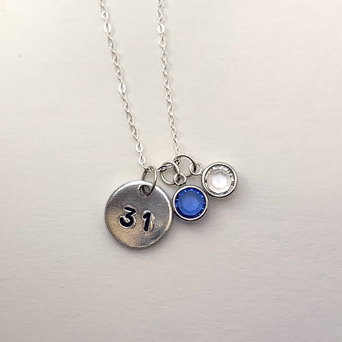 Personalized Number Necklace