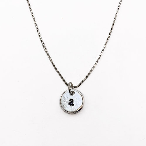 Tiny Custom Initial Pendant Necklace U-Z