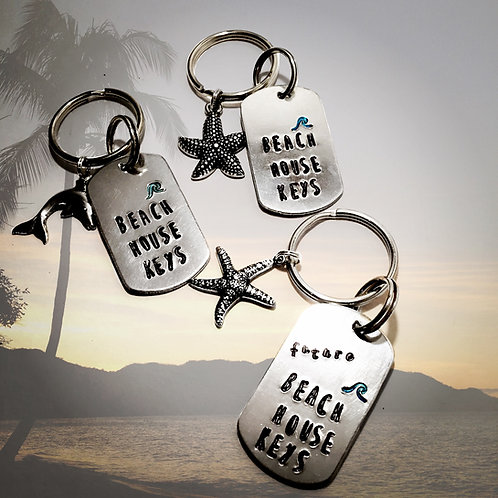 Beach House Keys Keychain