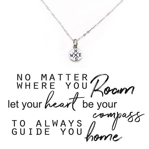 Compass Necklace -Home